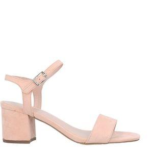 Light pink heeled sandals